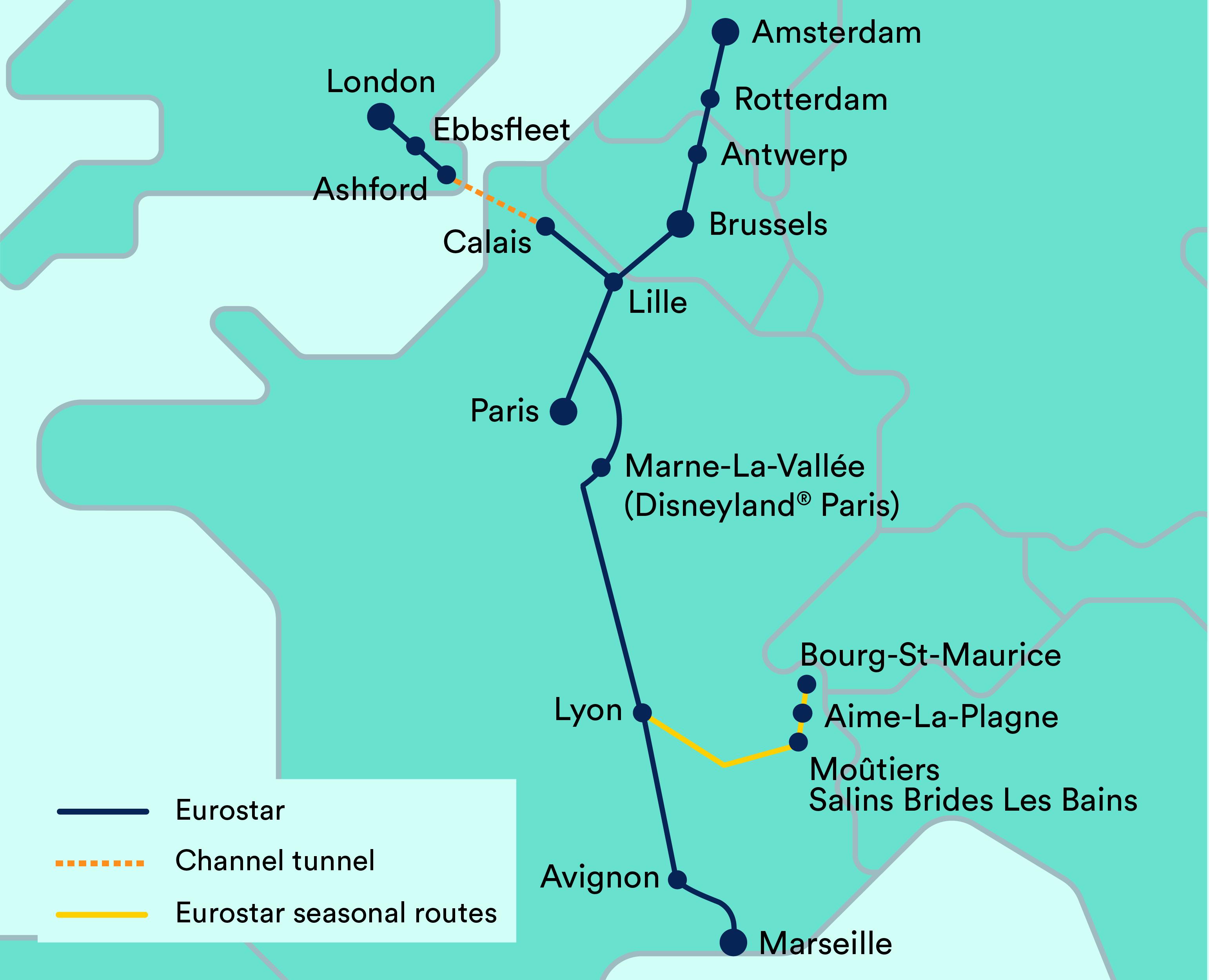 Eurostar-Map