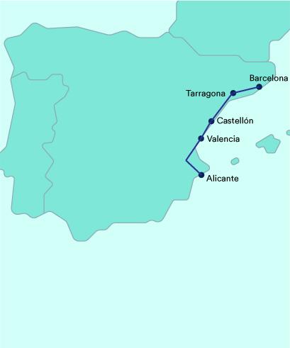 Mapa Euromed Renfe