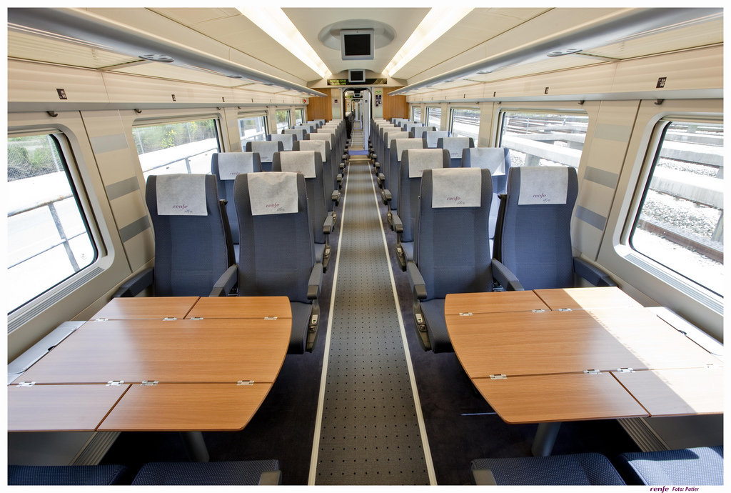 Turista (standard) class on an AVE train