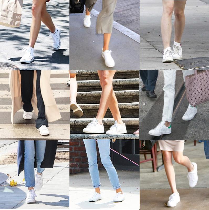 premium selection 68d49 2dd49 Sneakers bianche  look star con scarpe da ginnastica