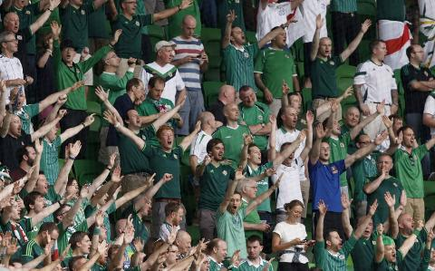 Northern Irish football fans prepare for draw