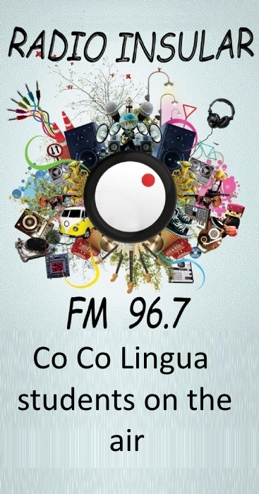 Co Co Lingua students on the air