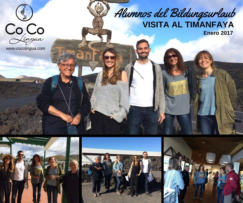 Visit to Timanfaya with Bildungsurlaub students - Co Co Lingua Lanzarote