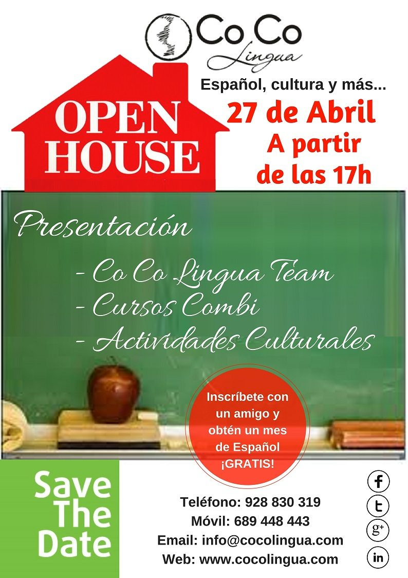 OPEN HOUSE – April 27th – 5pm