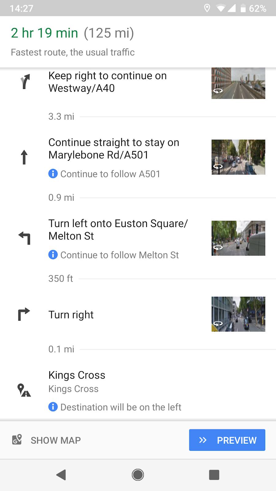 Directions Full-screen Navigation
