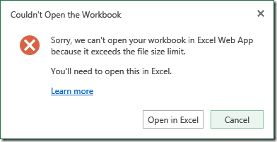 Excel Scalability Issues (File size)