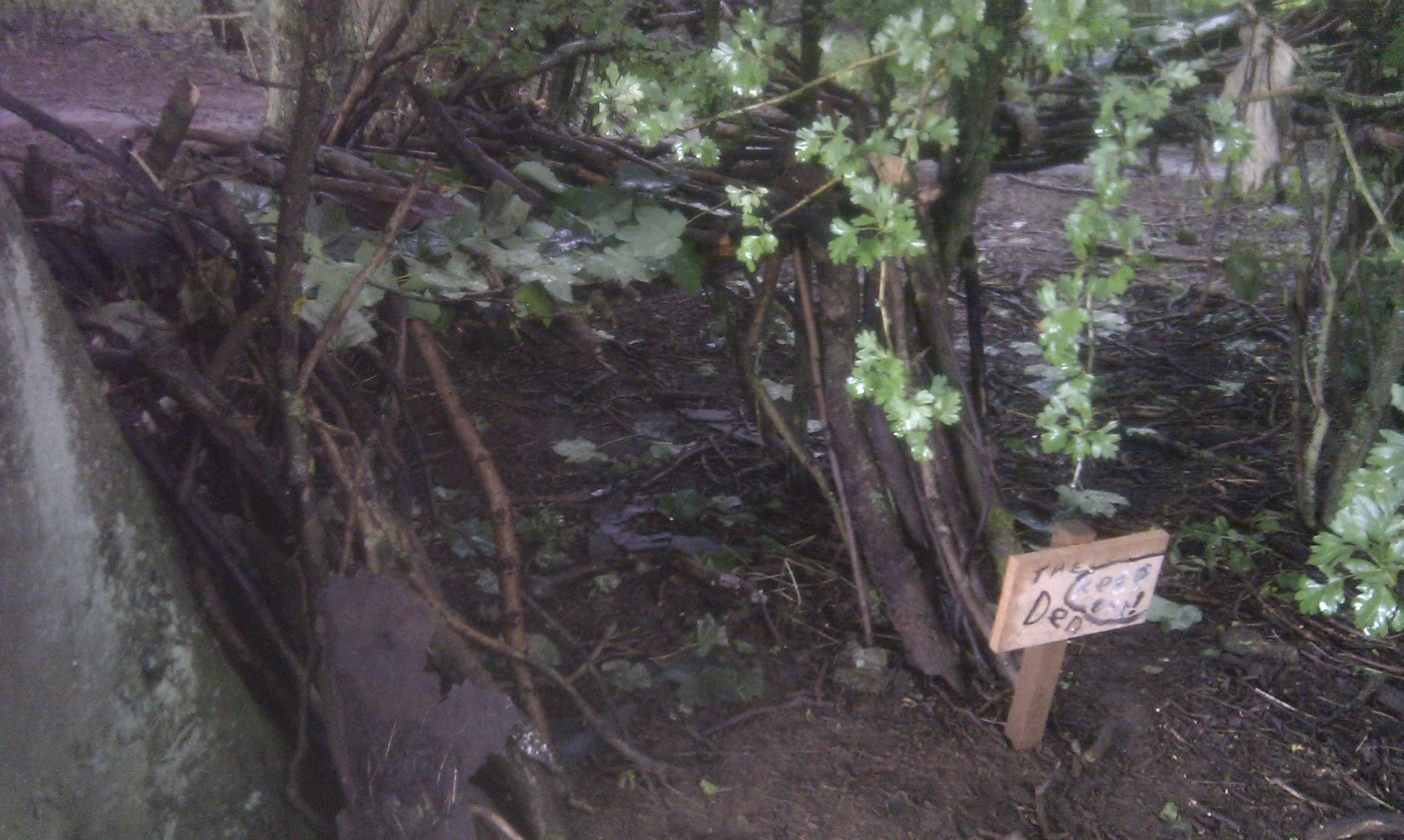 A den built by adventurers