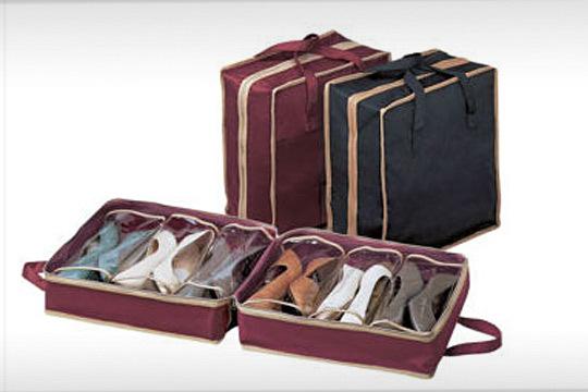 Productos colectivia organizador de zapatos para viaje en color granate o negro colectivia - Organizador de zapatos ...