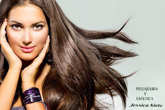 Lavado, trat. hidratante, corte y peinado... en Peluquería Jessica Nieto