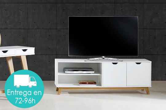 mueble de tv estilo nrdico en color blanco o gris antracita