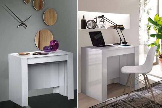 Muebles colectivia mesa extensible de hasta 10 for Mesa 2 metros comensales