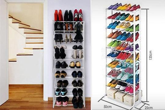 Productos colectivia organizador de calzado para 30 for Zapateras de metal