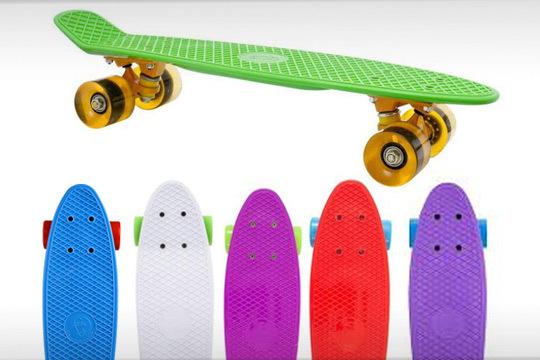 Skate con diseño retro