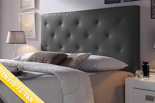 Muebles Colectivia - Cabecero de cama tapizado Rombos ¡En blanco ...