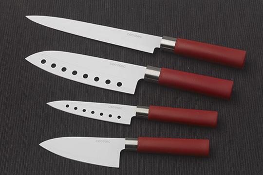 Productos colectivia set de 4 cuchillos profesionales for Cuchillo santoku