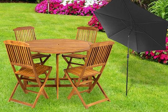 Productos Colectivia - Set de muebles de jardín Holly + sombrilla ...