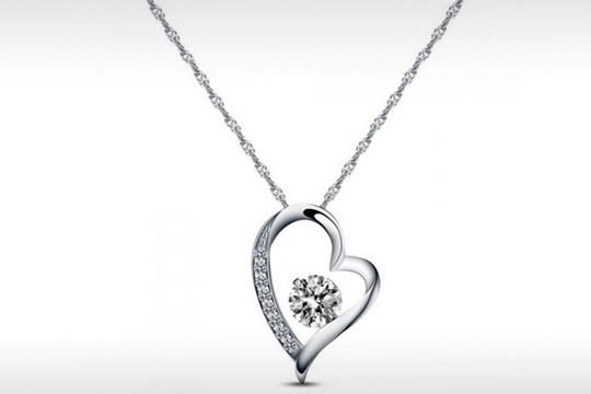 Collar tia heart crystal