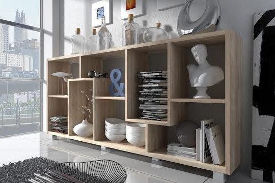 Muebles colectivia estanter a deluxe montaje en for Estanteria vertical