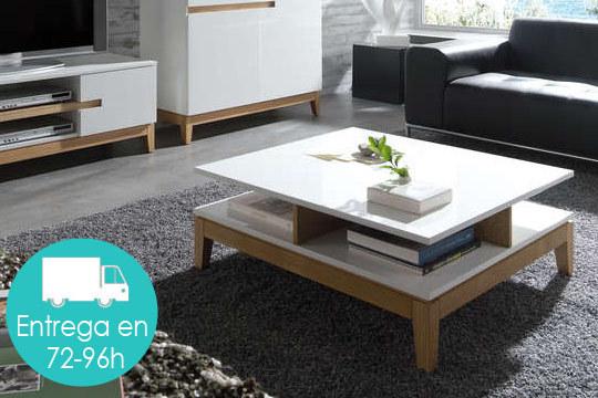 Muebles colectivia mesa de sal n n rdica lacada en alto for Ofertas mesas salon