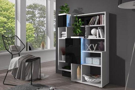 Muebles colectivia estanter a con luz led y detalle en - Estanterias con luz ...