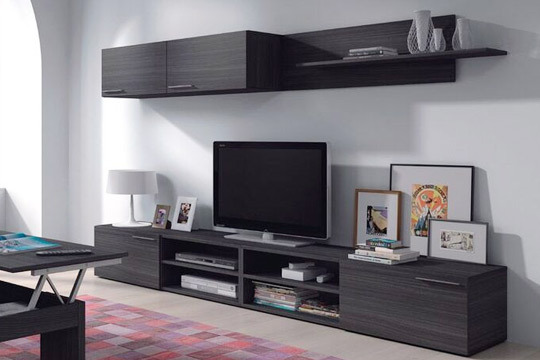Muebles colectivia conjunto de mueble de sal n kikua en gris ceniza colectivia - Conjunto muebles salon ...