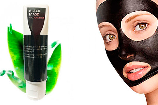 Máscara negra facial para puntos negros