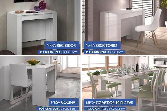 Muebles Colectivia - Mesa extensible para 6-14 comensales ...