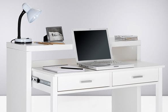 Muebles colectivia consola escritorio en color blanco - Escritorios en blanco ...