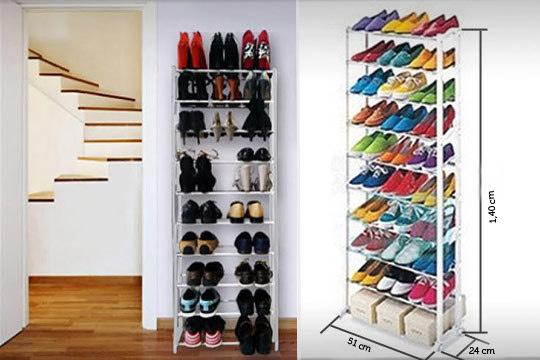 Productos colectivia organizador de zapatos con for Zapateros para espacios reducidos