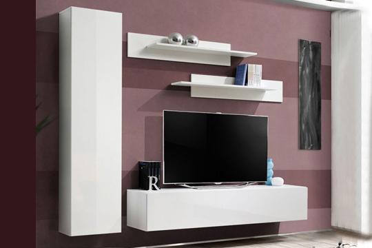 Productos colectivia conjunto de mueble sal n ornela en blanco o negro dise o moderno - Conjunto muebles salon ...