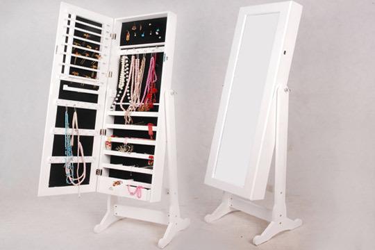 Productos colectivia 2 en 1 armario joyero con espejo for Espejo pared cuerpo entero