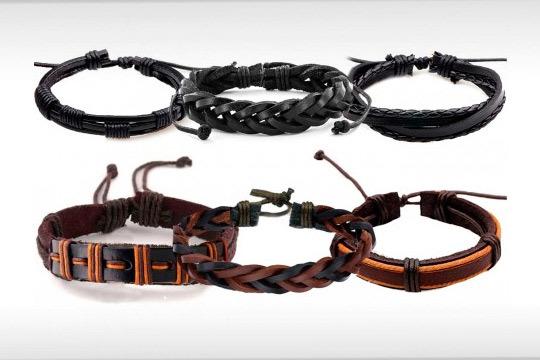 Set de 6 pulseras para hombre