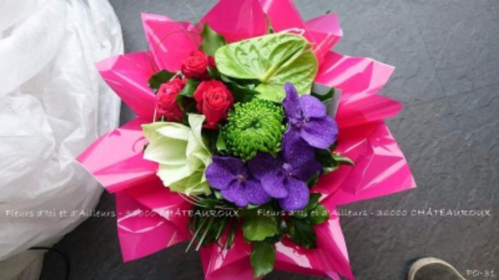 Faire livrer bouquet sur mesure Diors artisan fleuriste Fleurs d'Ici et d'Ailleurs...