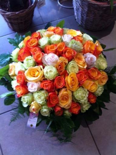 Offrir bouquets de fleur Monnieres  Atout Rose