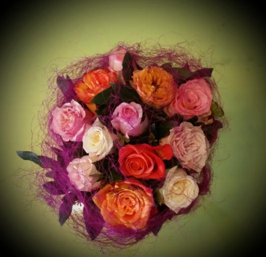 Offrir bouquet fleurs Martigues fleuriste L'Alchimie Fleurs