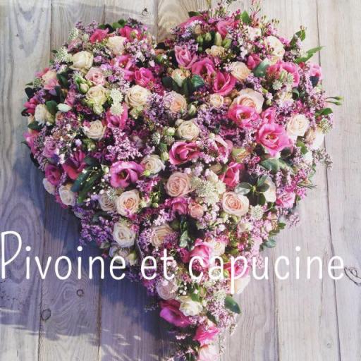 Livraison bouquet fleur Batz-Sur-Mer fleuriste Pivoine et Capucine