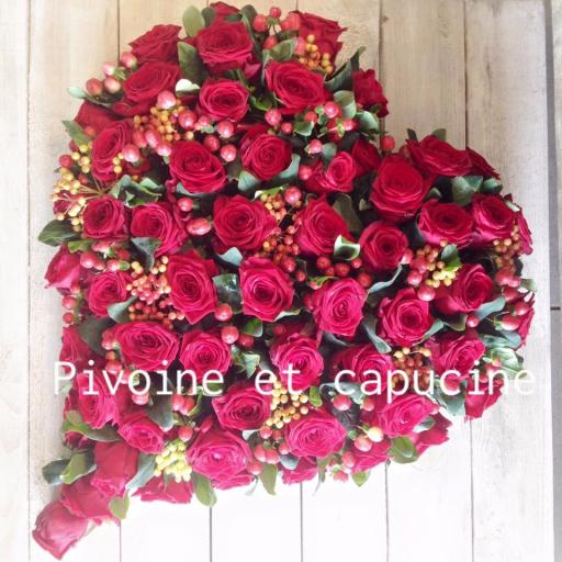 Livraison de bouquet Batz-Sur-Mer  Pivoine et Capucine