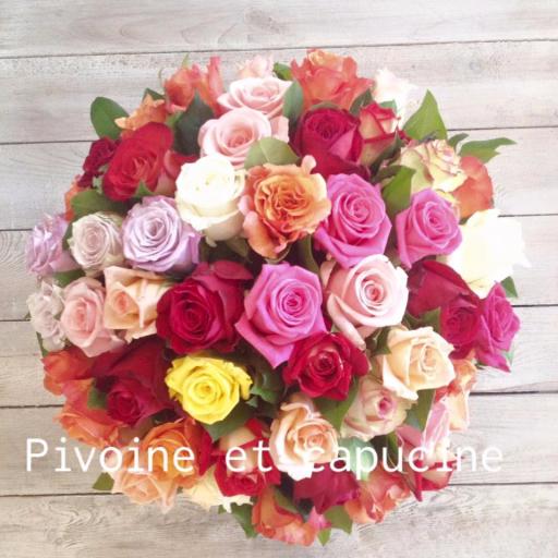 Commande bouquet sur mesure Batz-Sur-Mer  Pivoine et Capucine