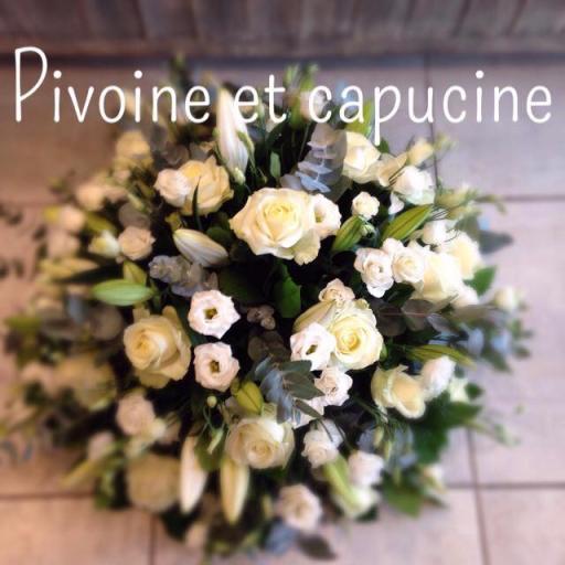 Livraison bouquet fleur Batz-Sur-Mer  Pivoine et Capucine