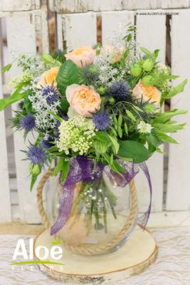Bouquet de fleur Rosbruck artisan fleuriste Aloé Fleurs