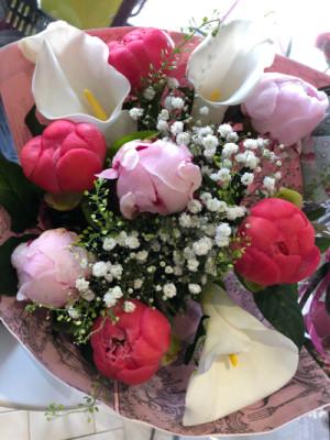 Commande bouquet fleurs Pougny fleuriste créateur Tendance's Fleurs