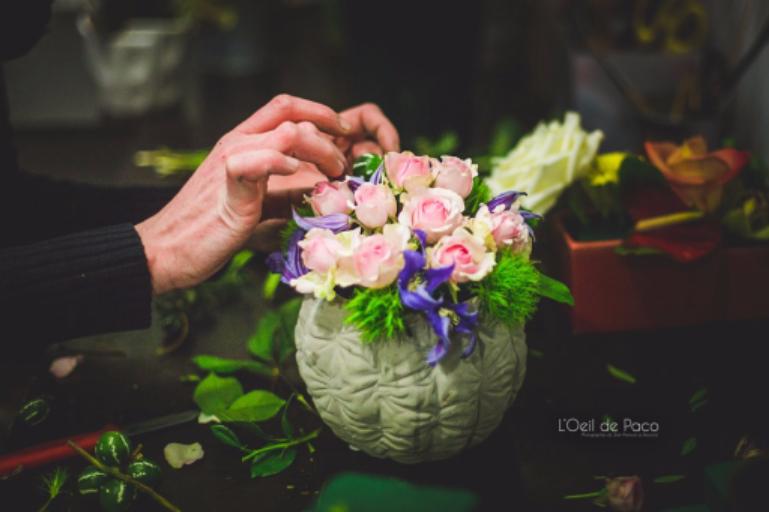 Livraisons de bouquets fleur Quemper-Guezennec artisan fleuriste Coccinelle