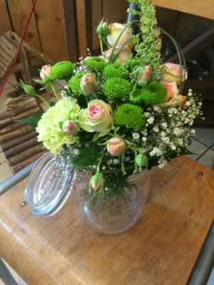 Commander bouquet fleurs Ribeauville fleuriste créateur Brindille et Pom de Pin