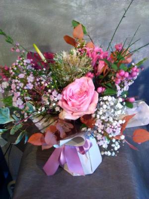 Bouquet de fleurs Bois-Arnault fleuriste créateur Le Bois des Roses