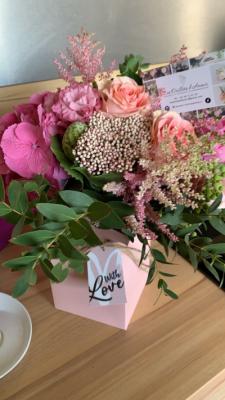 Création bouquet fleurs fleuriste artisan Les Oeillets d'Amour à Parigné-Le-Pôlin