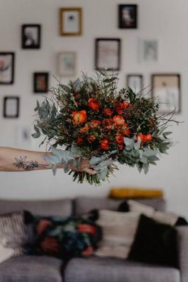 Commander bouquet fleurs Canet-En-Roussillon fleuriste créateur L'Herbe Folle Fleuriste