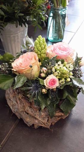 Envoi de composition florale Mervent  Bleu Coquelicot