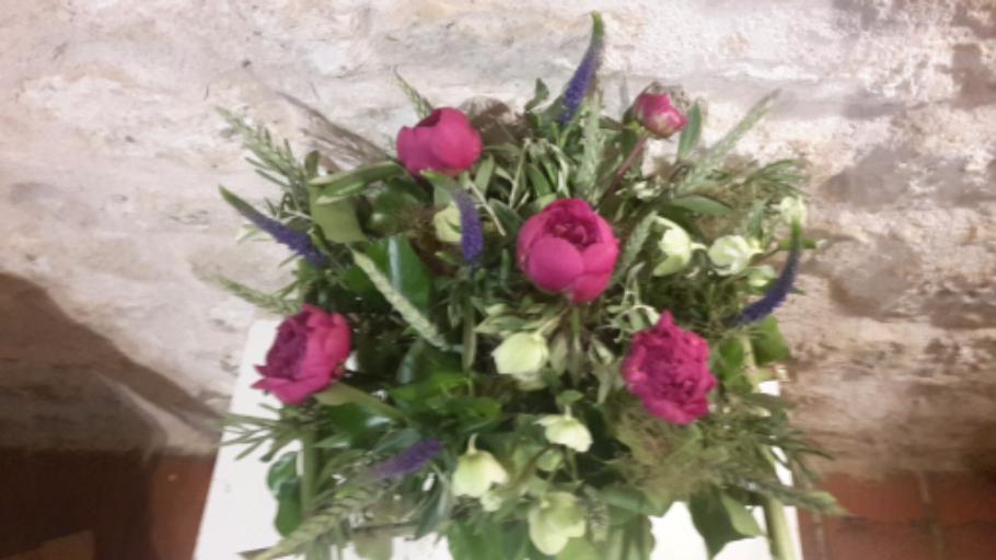 Livraison bouquet de fleur Mervent fleuriste créateur Bleu Coquelicot
