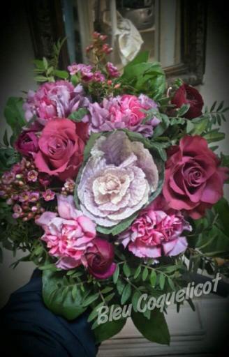 Commande bouquet sur mesure L'Orbrie  Bleu Coquelicot