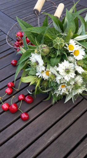 Envoi de bouquet fleur Mervent artisan fleuriste Bleu Coquelicot